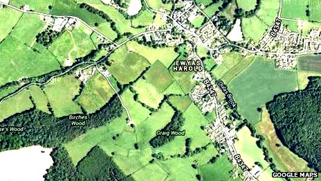Satellite map of Ewyas Harold