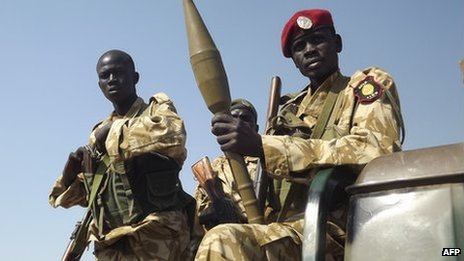 South Sudanese troops loyal to President Salva Kiir (25 December 2013)