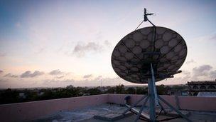 A satellite in Mogadishu