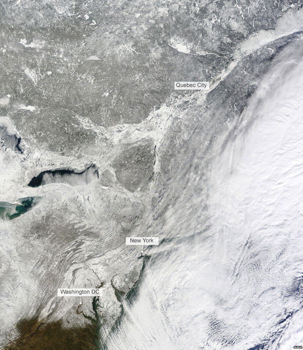 3 January satellite image of North America