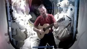 Cmdr Hadfield became an internet sensation when he sang David Bowie's Space Oddity on the ISS