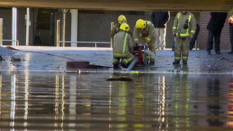 Fire crews at Cowcaddens underpass