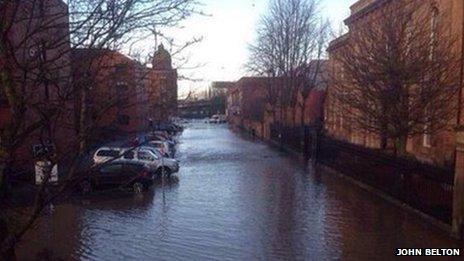 Shamrock Street flooding