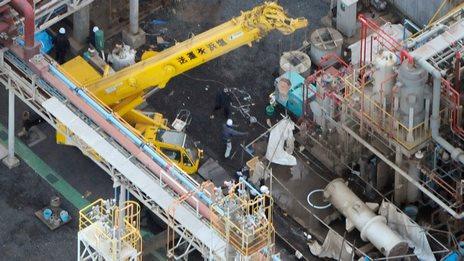 BBC News - Japan: Fatal blast at Mitsubishi Materials factory