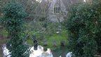Flooded graveyard