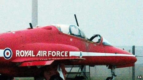 Flt Lt Sean Cunningham's aircraft