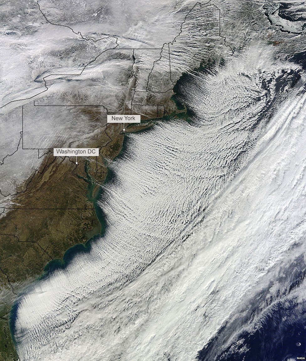 7 January satellite image of North America