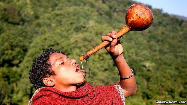 Boy with gourd