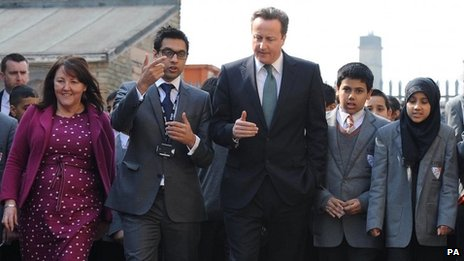 Sajid Raza with David Cameron