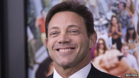 "Jordan Belfort, the financier convicted of fraud and  author of the book ""The Wolf of Wall Street"", at the New York film premiere"