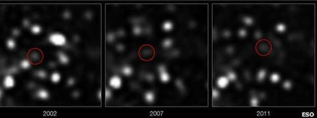The cloud was spotted in 2011 hurtling towards the galactic core
