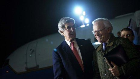 "Kerry wants a ""framework"" for a final Israeli-Palestinian peace deal"