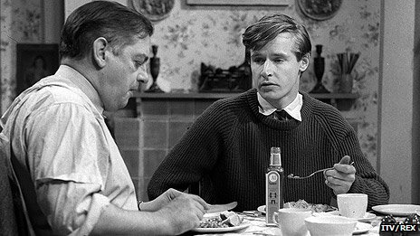 William Roache and Frank Pemberton in the first episode of Coronation Street