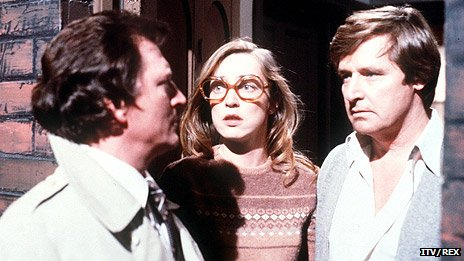 Johnny Briggs, Anne Kirkbride and William Roache in Coronation Street