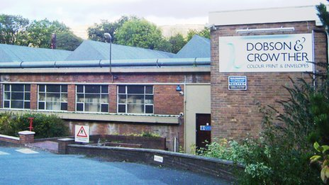 Dobson and Crowther print factory in Llangollen