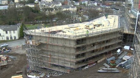 The Pontio building site in Bangor