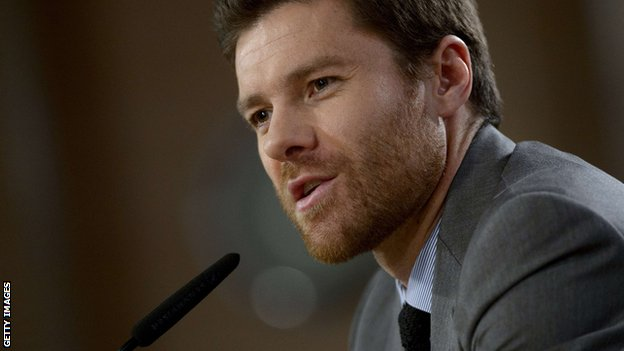 Real Madrid midfielder Xabi Alonso