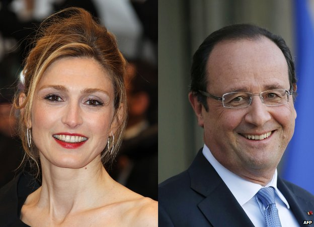 Julie Gayet and Francois Hollande - file pics