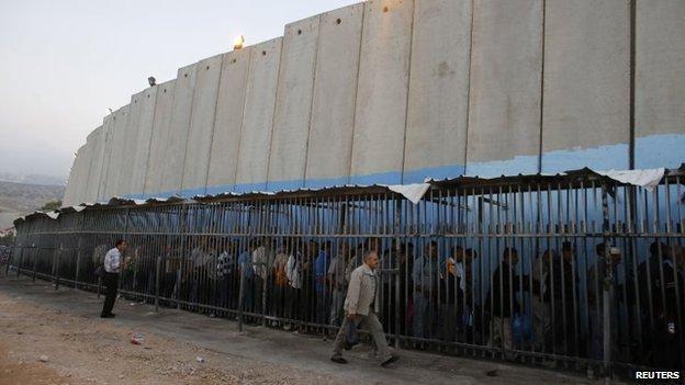 West Bank barrier near Bethlehem (2013)