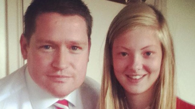Amy McGivern and her father Colin