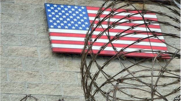 The US flag is viewed at the US Naval Base in Guantanamo Bay, Cuba in this August 7, 2013 file photo