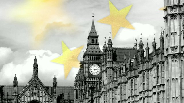 Graphic showing Parliament plus EU stars
