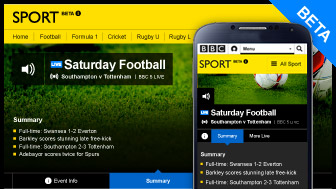 BBC live beta football