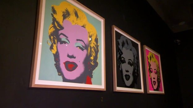 Andy Warhol's print of Marilyn Monroe