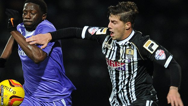 Kieron Freeman (right) playing for Notts County