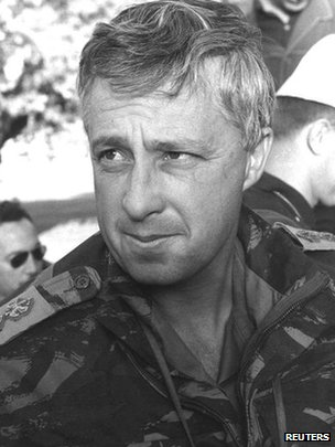 Ariel Sharon, then an Israeli army colonel, visiting troops on 14 November 1964