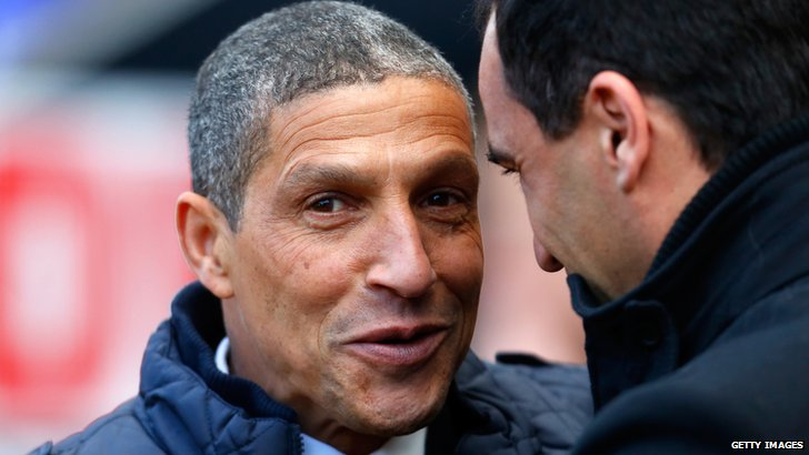 Chris Hughton & Roberto Martinez