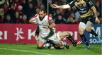 John Afoa prepares to touch down for Ulster's third try against Montpellier in the Heineken Cup Pool 5 clash in Belfast