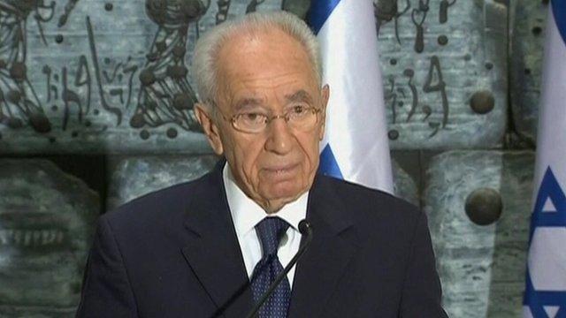 The Israeli President Shimon Peres
