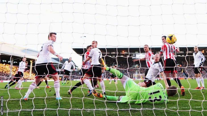 Sunderland score at Craven Cottage
