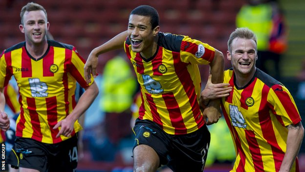 Lyle Taylor was on target twice for Partick Thistle