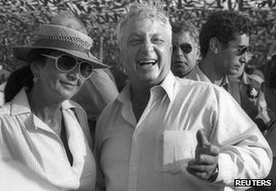 Ariel Sharon with his wife Lily at an air display in Israel in 1982