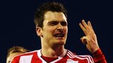 Adam Johnson celebrates Fulham v Sunderland