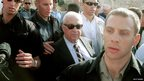 Ariel Sharon visits the Temple Mount/Haram al-Sharif in Jerusalem on 28 September 2000