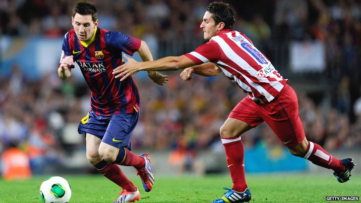 Lionel Messi and Koke
