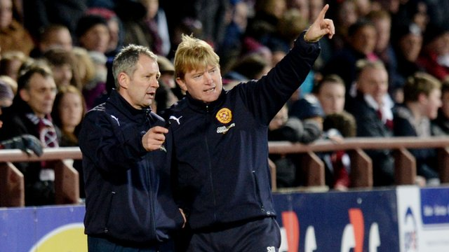 Motherwell manager Stuart McCall and assistant Kenny Black