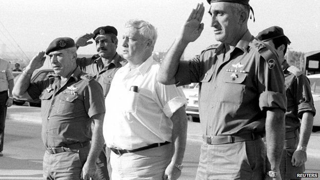 Sharon as defence minister