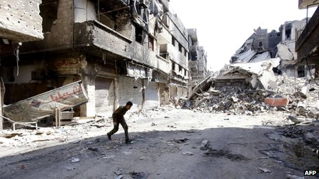 Yarmouk Palestinian refugee camp close to the centre of Damascus (September 2013)