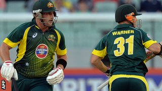 Australia batsmen Aaron Finch and David Warner