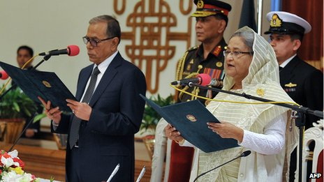 Sheikh Hasina at swearing-in