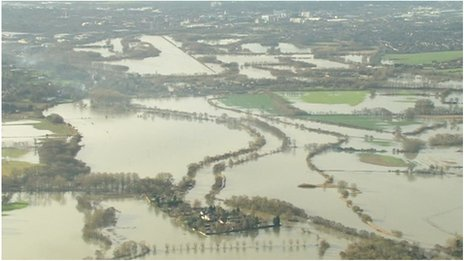 Flooding along the River Thames