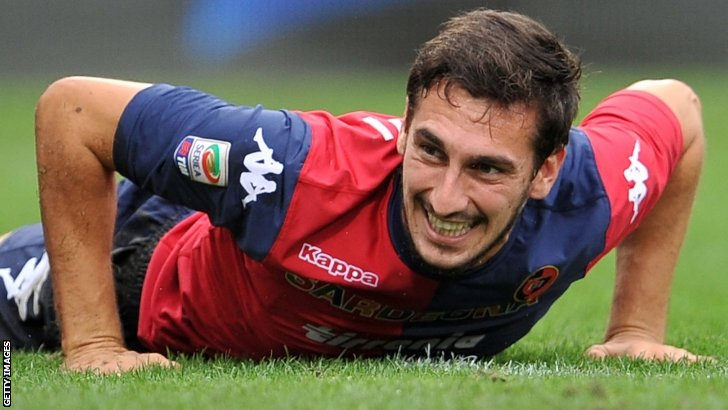 Davide Astori in action for Cagliari