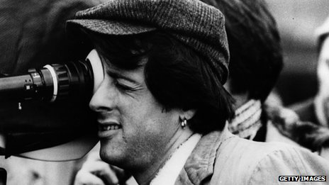 Sylvester Stallone on the set of Paradise Alley