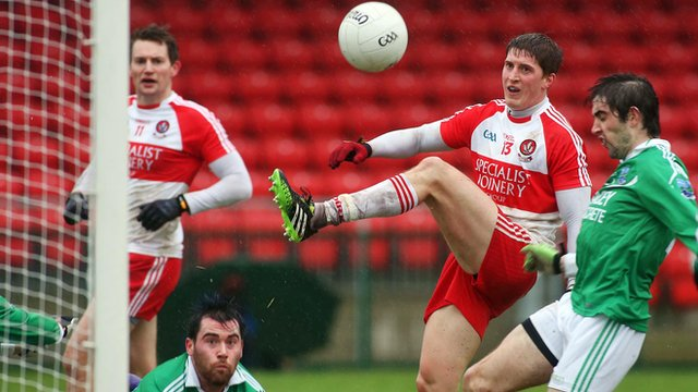 Derry beat Fermanagh in the McKenna Cup match at Owenbeg