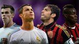Gareth Bale, Cristiano Ronaldo, Kaka and Mario Balotelli