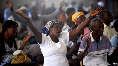 Haitians at mass to mark quake anniversary